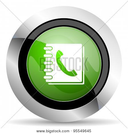 phonebook icon, green button