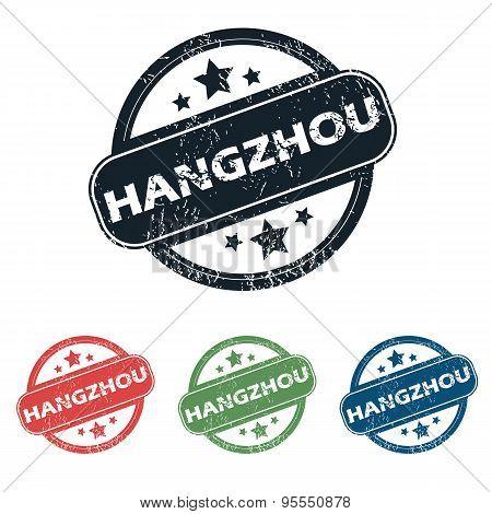 Round Hangzhou city stamp set