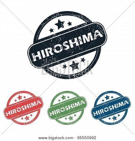 Round Hiroshima city stamp set