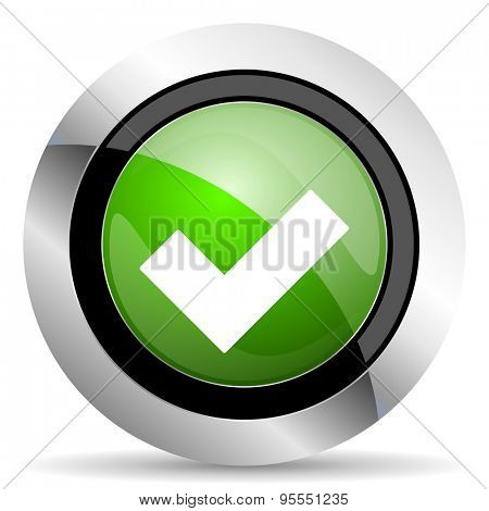 accept icon, green button, check sign