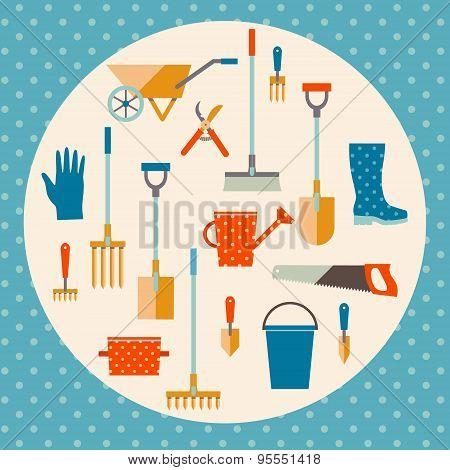 Garden tools set.