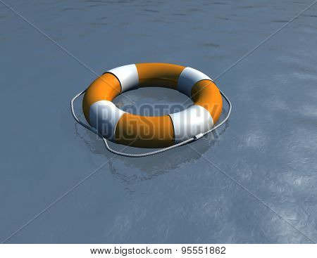 Life Saver Illustration, Hope Abstract Concept