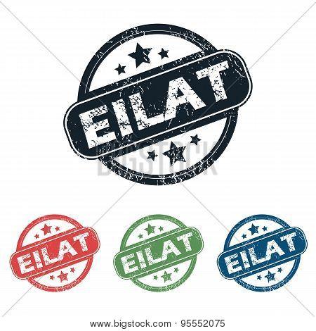 Round Eilat city stamp set