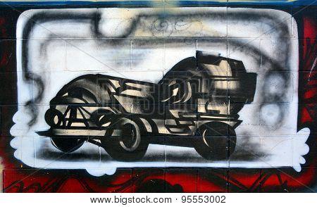 Industrial machine mural