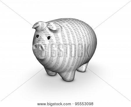 Money And Finances Concept With 3D Piggy.