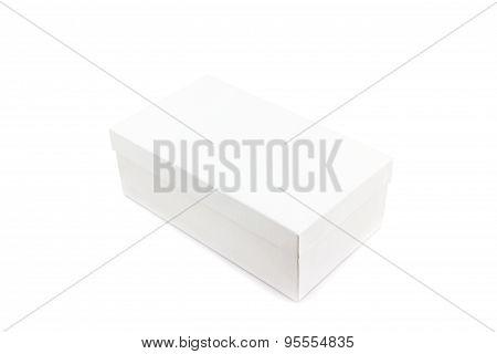 White Shoe Box On White Background.