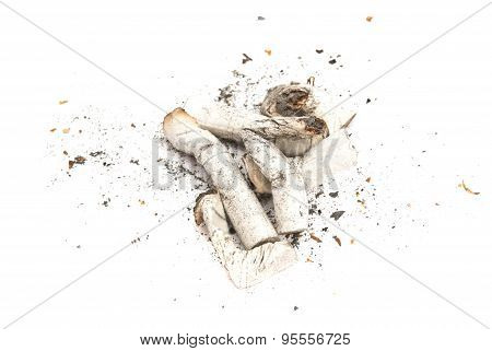 Heap Of Cigarette Butts With Filter