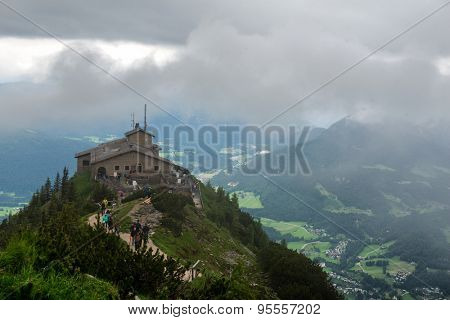 The Kehlsteinhaus, or Eagles Nest, a Third Reich Tourist Attraction Presented to Adolf Hitler on 50th Birthday, on Outcrop Overlooking Obersalzberg, Germany