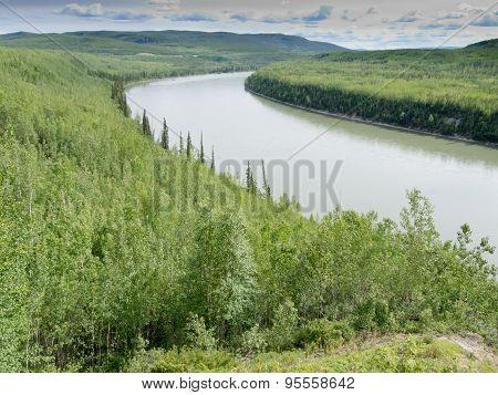 Green Liard River Wilderness Bc Canada