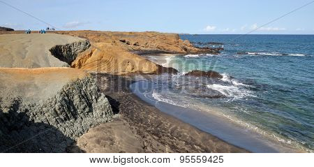 Dry Terrain Over Beach