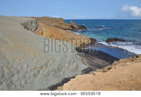 Dry River Bed To Black Sand Beach