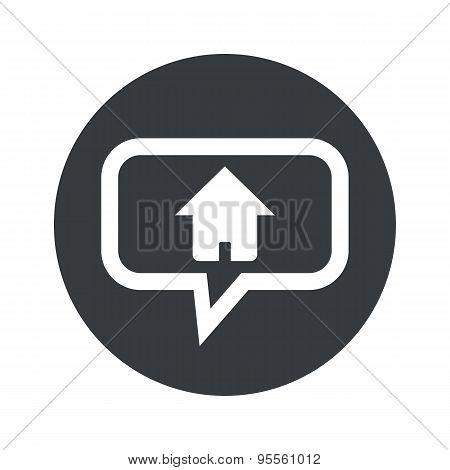 Round dialog home icon