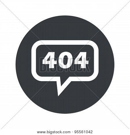 Round dialog error 404 icon