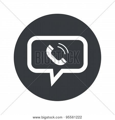 Round dialog calling icon