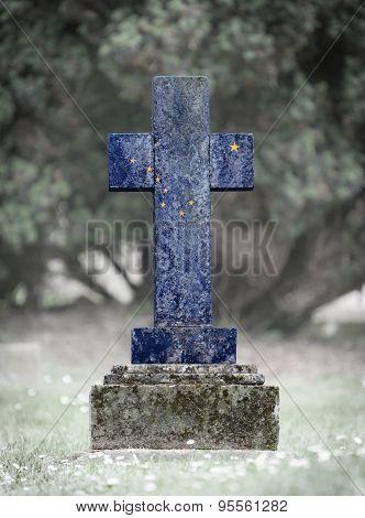 Gravestone In The Cemetery - Alaska