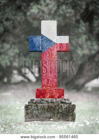 Gravestone In The Cemetery - Czech Republic