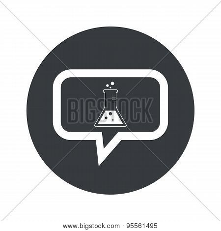 Round dialog conical flask icon