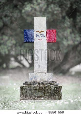 Gravestone In The Cemetery - Iowa
