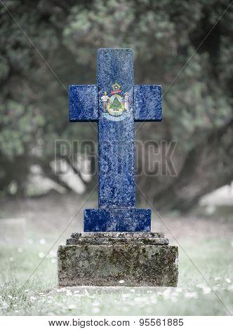 Gravestone In The Cemetery - Maine