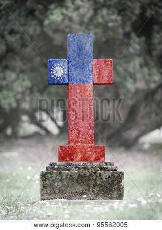 Gravestone In The Cemetery - Myanmar