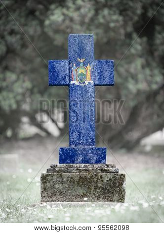 Gravestone In The Cemetery - New York