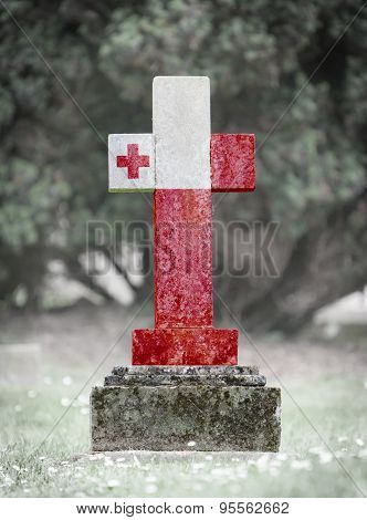 Gravestone In The Cemetery - Tonga