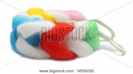 Colorful body scrubber