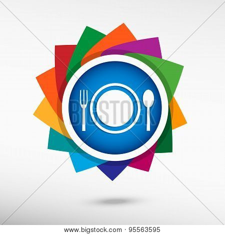 Plate Fork And Spoon.