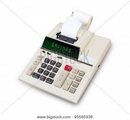Old Calculator - Savings