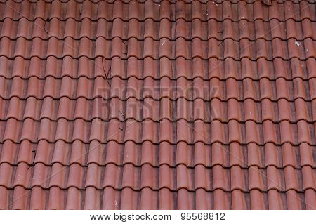Old Red Tile Roof Needs Repair