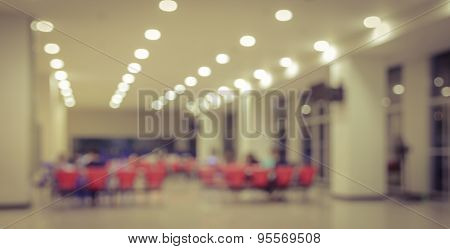 Blurred Library Room Interior Background