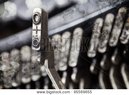O Hammer - Old Manual Typewriter - Mystery Smoke