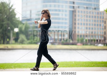 Business Woman In Rush