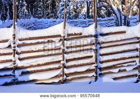 Rural wooden fence.