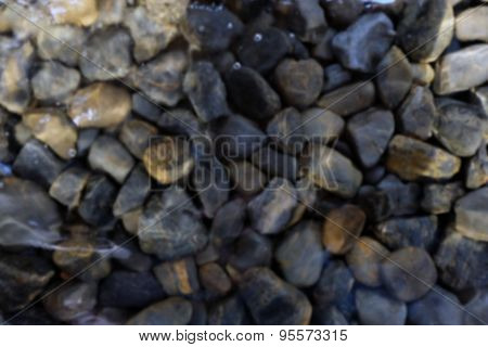 Blur Rock in the water