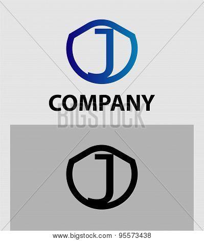 Abstract Letter J vector logo symbol