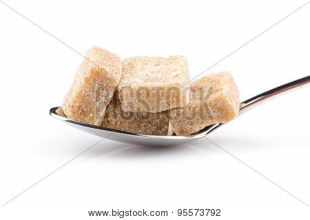 Cubes Of Sugar On A Spoon