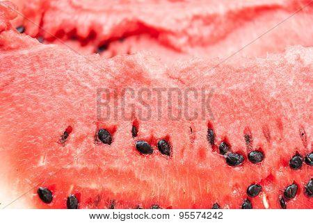 Fresh Slice Of Jucy Watermelon Close Up