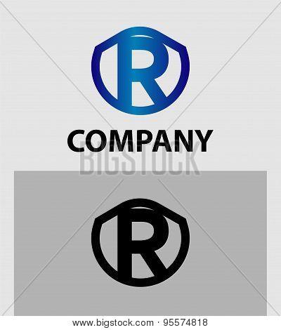Letter R logo. Alphabet logotype vector design