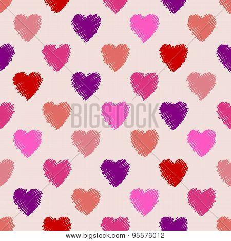 Scribbled Heart Pattern Design