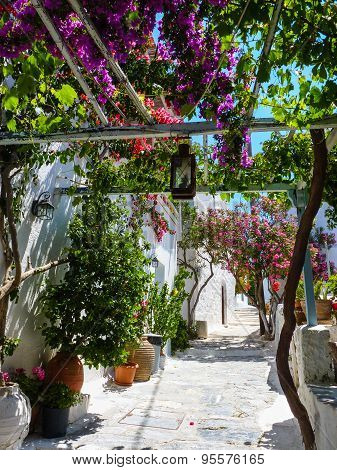 Chora the Capital of Amorgos Island