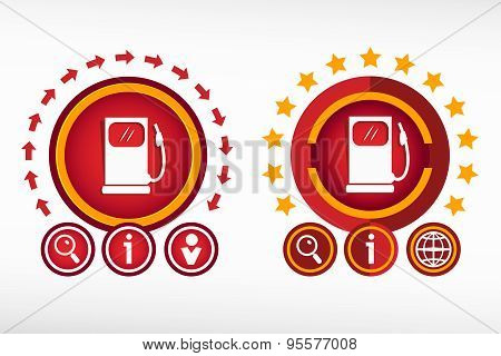 Gas Station Icon And Creative Design Elements.