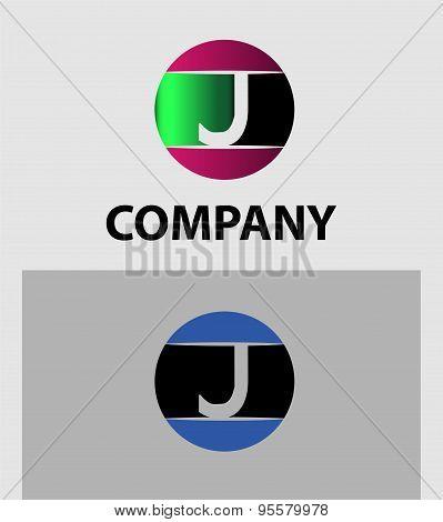 Set of letter J logo icons design template elements