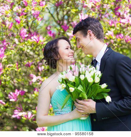 Beautiful wedding couple.