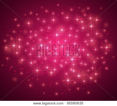 Pink Magic Background With Sparkle
