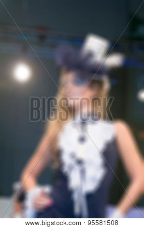 Fashion show theme blur background