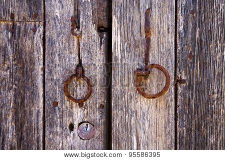 Spain Knocker Lanzarote Abstract Door Wood