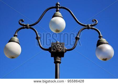 Street Lamp A Bulb In The   Sky Lugano Switzerland