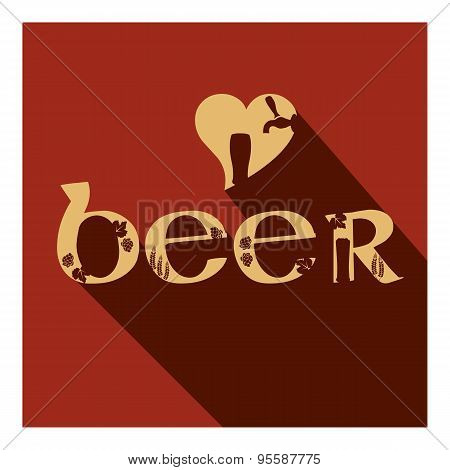 Vector Beer Poster Of Type Composition With Different Glasses