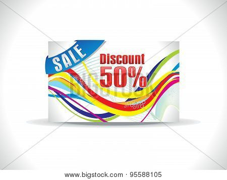 Abstract Colorful Discount Card Template